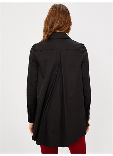 Vekem-Limited Edition Taş Detaylı Pamuk Gömlek Siyah